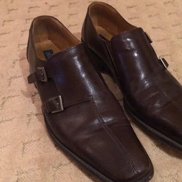 c45332a3a1 Mezlan men s brown dress shoe with double buckle. M 5c72d8297386bc6461686c1d